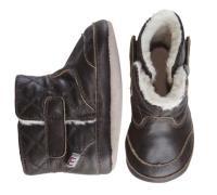 Skindsko fra Melton - Quilted Leather Bootie - Dark Brown