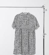Missguided Maternity - Smock-skjortekjole i dalmantiner-print-Multifarvet