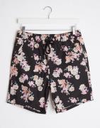 Korte shorts med blomster print fra ASOS DESIGN-Marineblå