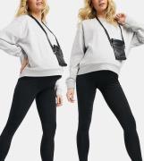 New Look Maternity 2 pakke med sorte leggings