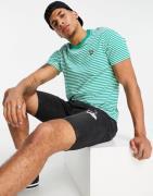 Lyle & Scott - 2 farvet stribet T-shirt i aqua-Blå