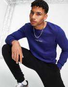 Calvin Klein - Lounge-sweatshirt i navy-Marineblå