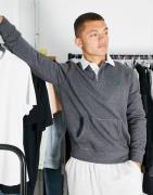Polo Ralph Lauren - Rugby-sweatshirt med ikonlogo i meleret mørkegrå