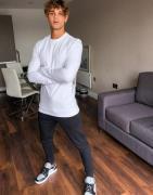 ASOS DESIGN - Hvid tætsiddende sweatshirt i økologisk bomuld