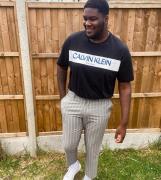 New Look Plus - Lysegrå skinny cropped-bukser med striber