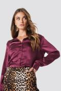 Rut&Circle Rebecka satin shirt - Red