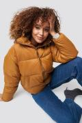 NA-KD Trend Short Puffer Jacket - Brown