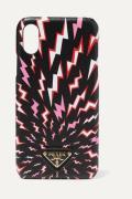 Prada - Printed Textured-leather Iphone X/ Xs Case - Black