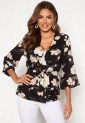 Happy Holly Jessie kimono jacket Black / Patterned 52/54
