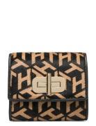 Turnlock Med Wallet Calfhair Bags Card Holders & Wallets Wallets Sort Tommy Hilfiger