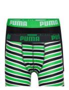 Puma Boys Basic Boxer Printed Strip Trusser Grøn PUMA