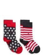 Th Kids Sock 2p Stars And Stripes Socks & Tights Socks Rød Tommy Hilfiger